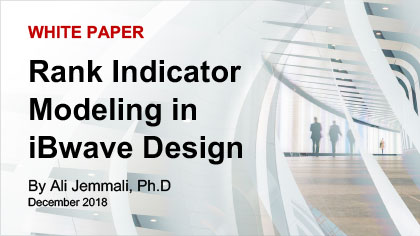 White Paper: Rank indicator modeling in iBwave Design