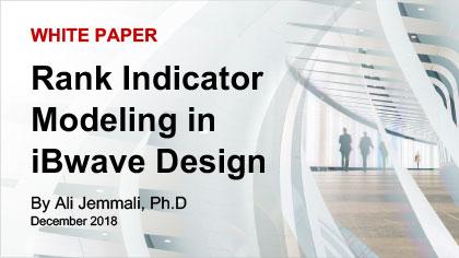 White Paper: Rank indicator modeling in iBwave Design